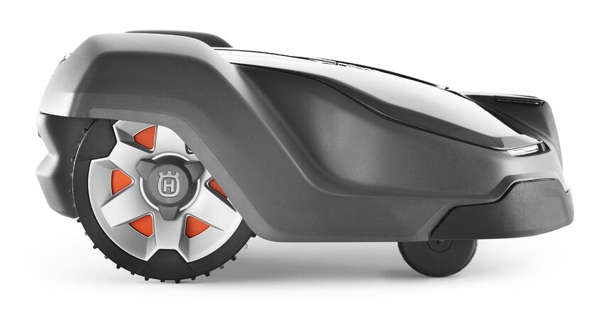 Side view of the Husqvarna Automower 430X