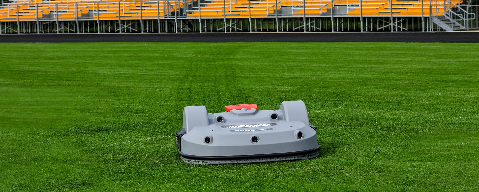 The Echo TM-2000 mowing a field