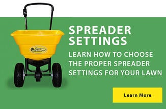 Learn how to choose the proper spreader settings for your lawn.